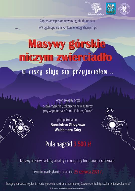 """V ogólnopolski konkurs fotograficzny - """"Masywy górskie niczym zwierciadło, w ciszy stają się przyjacielem…"""""""